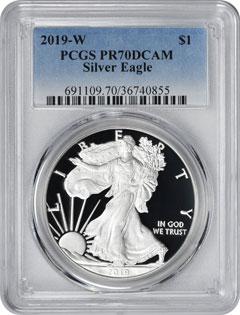 2019 $1 American Silver Eagles
