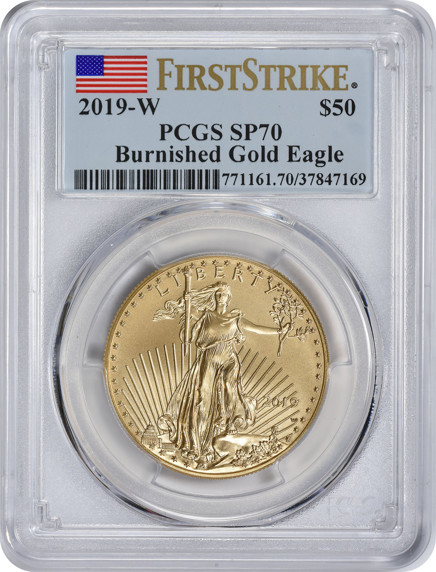 2019-W $50 American Burnished Gold Eagle