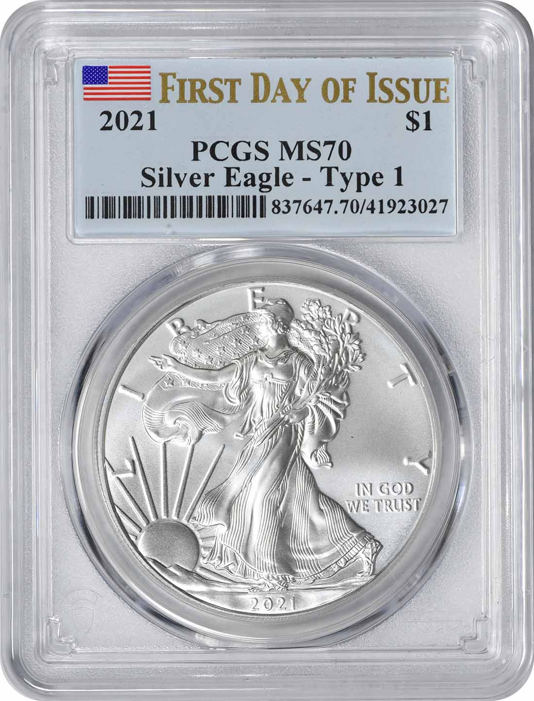 2021 Type 1 $1 American Silver Eagles