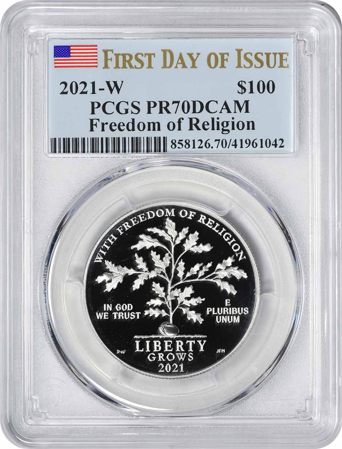 2021 $100 American Platinum Eagles