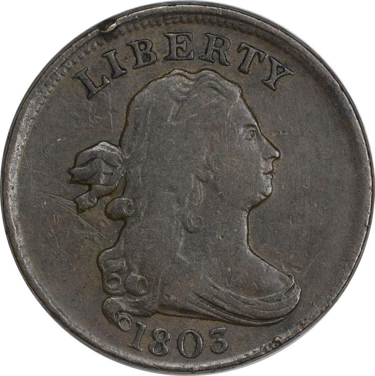 1803 Half Cent VF Uncertified