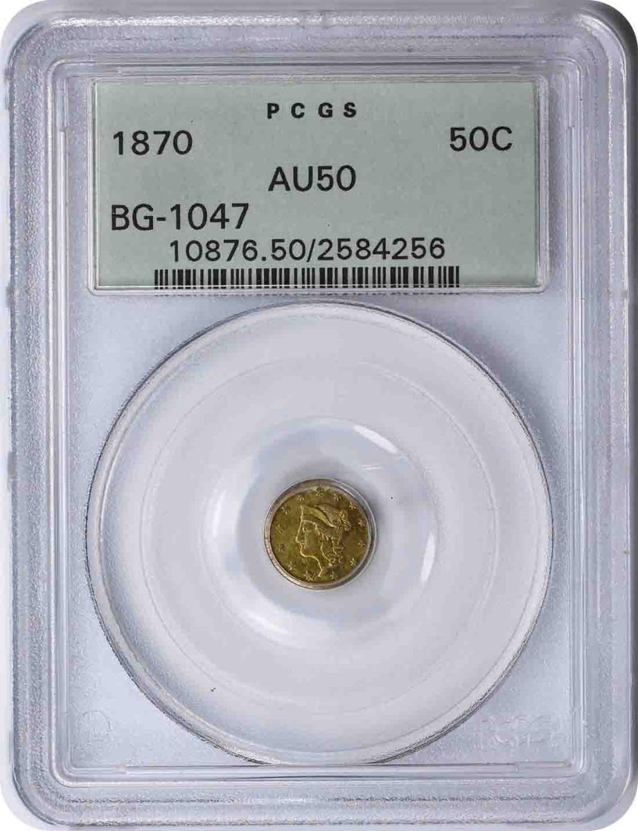 1870 Half Dollar California Gold BG-1047 AU50 PCGS