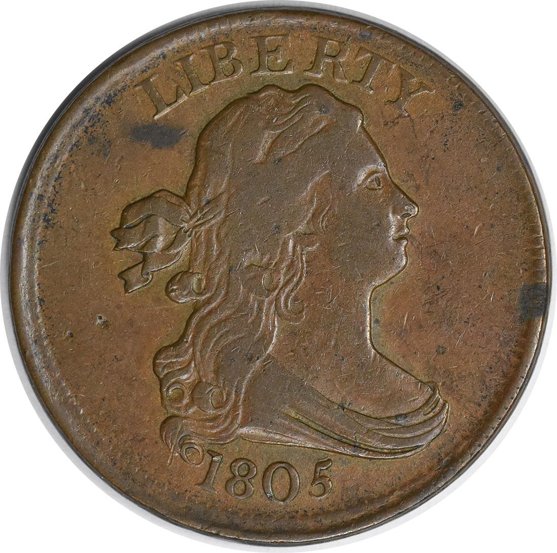 1805 Half Cent EF Uncertified