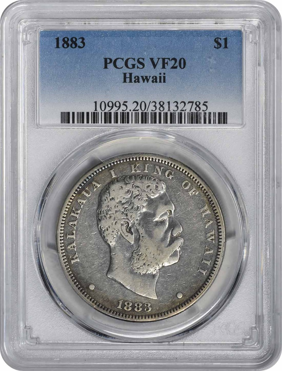 1883 Hawaiian Dollar VF20 PCGS