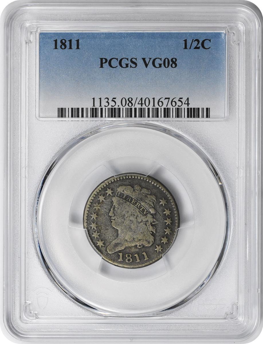1811 Half Cent VG08 PCGS