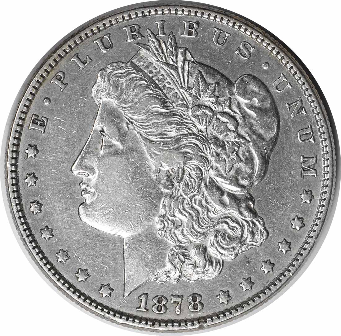 1878 8TF VAM 15 Morgan Silver Dollar Doubled Liberty AU Uncertified