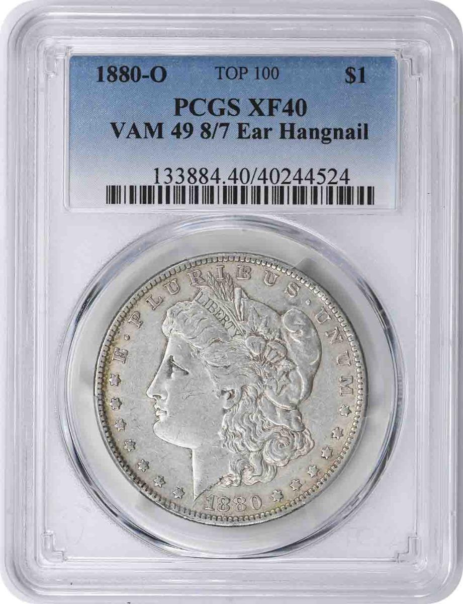1880-O Vam 49 Morgan Dollar 8/7 Hangnail XF40 PCGS