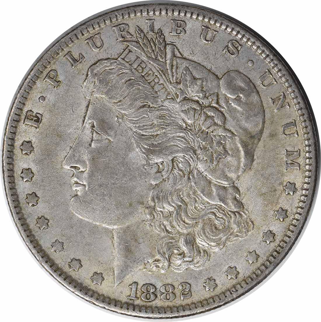 1882-O/S VAM 4 Morgan Silver Dollar O/S Recessed EF Uncertified