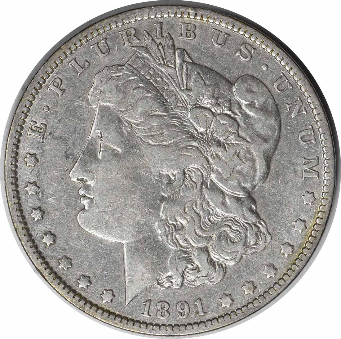 1891-O VAM 1A Morgan Silver Dollar Clashed E Choice VF Uncertified