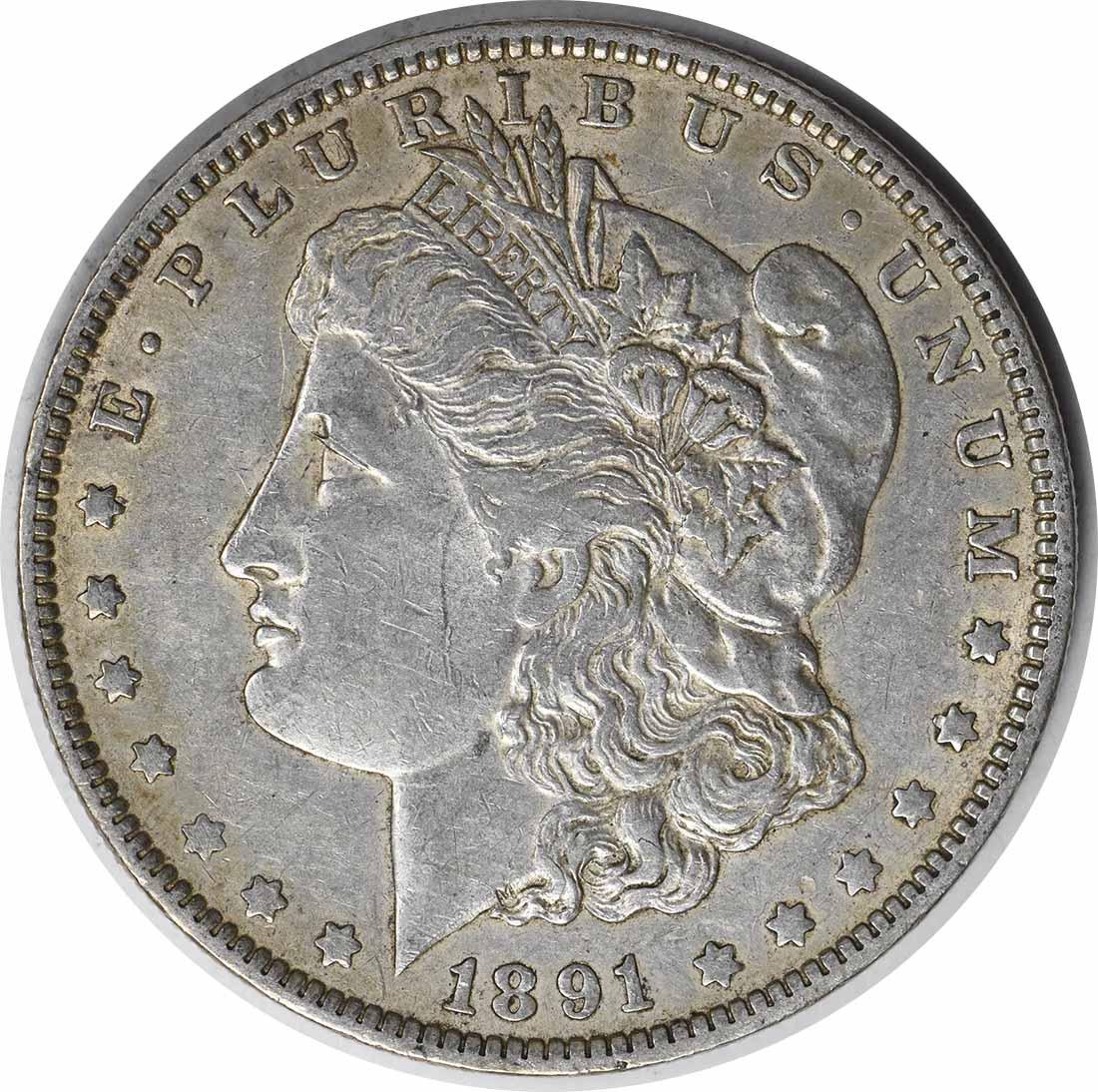 1891-O VAM 1A Morgan Silver Dollar Clashed E EF Uncertified