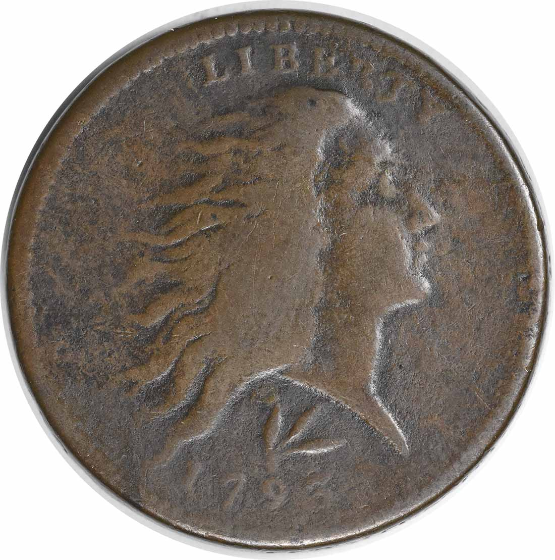 1793 Large Cent Lettered Edge F Uncertified