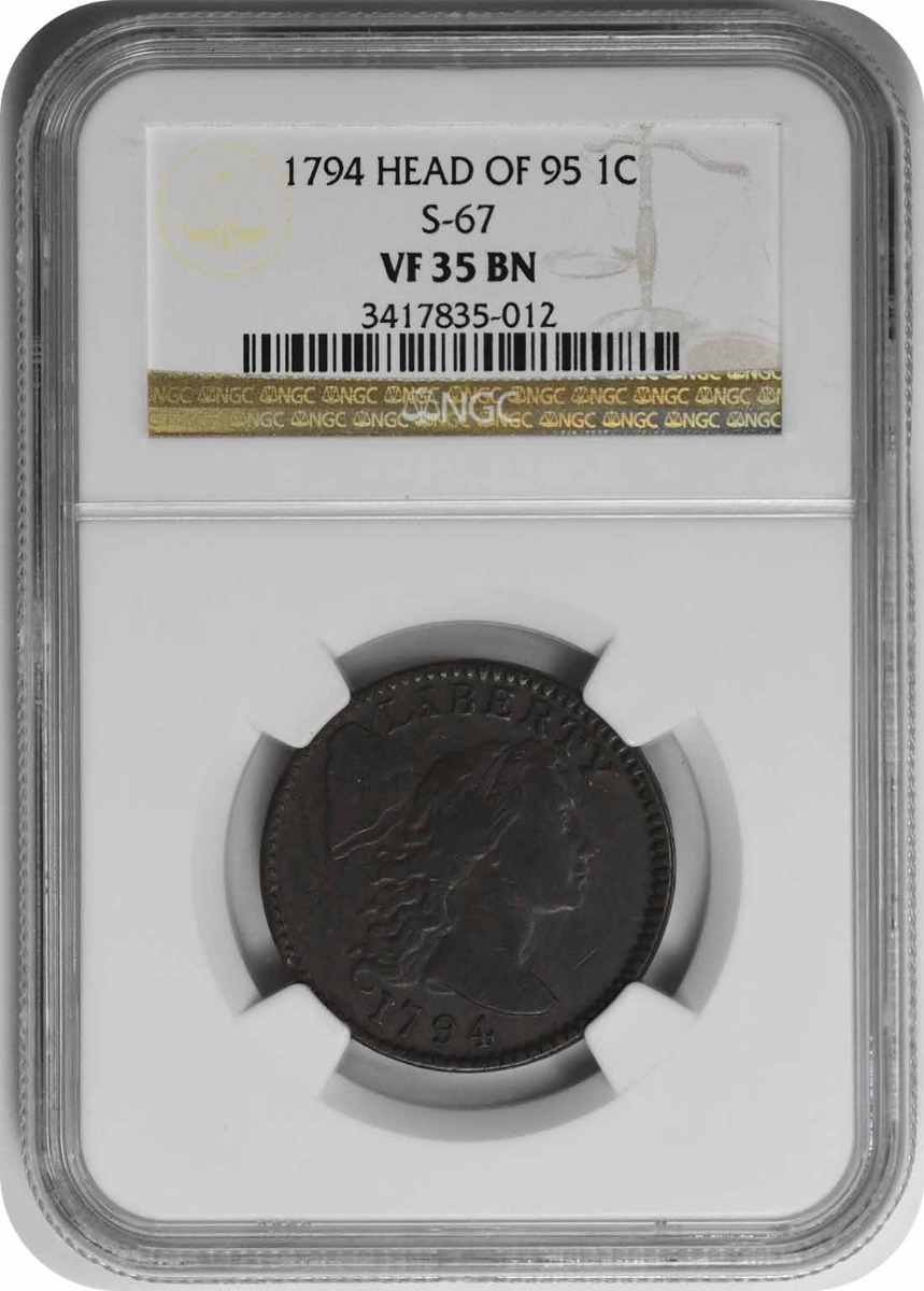 1794 Large Cent VF35BN NGC