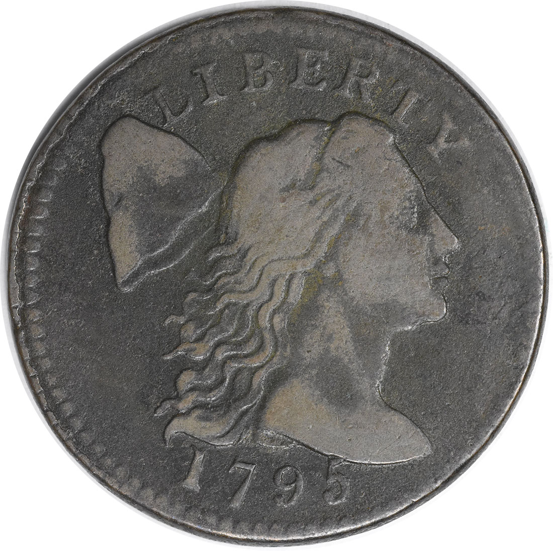 1795 Large Cent F Uncertified #1034