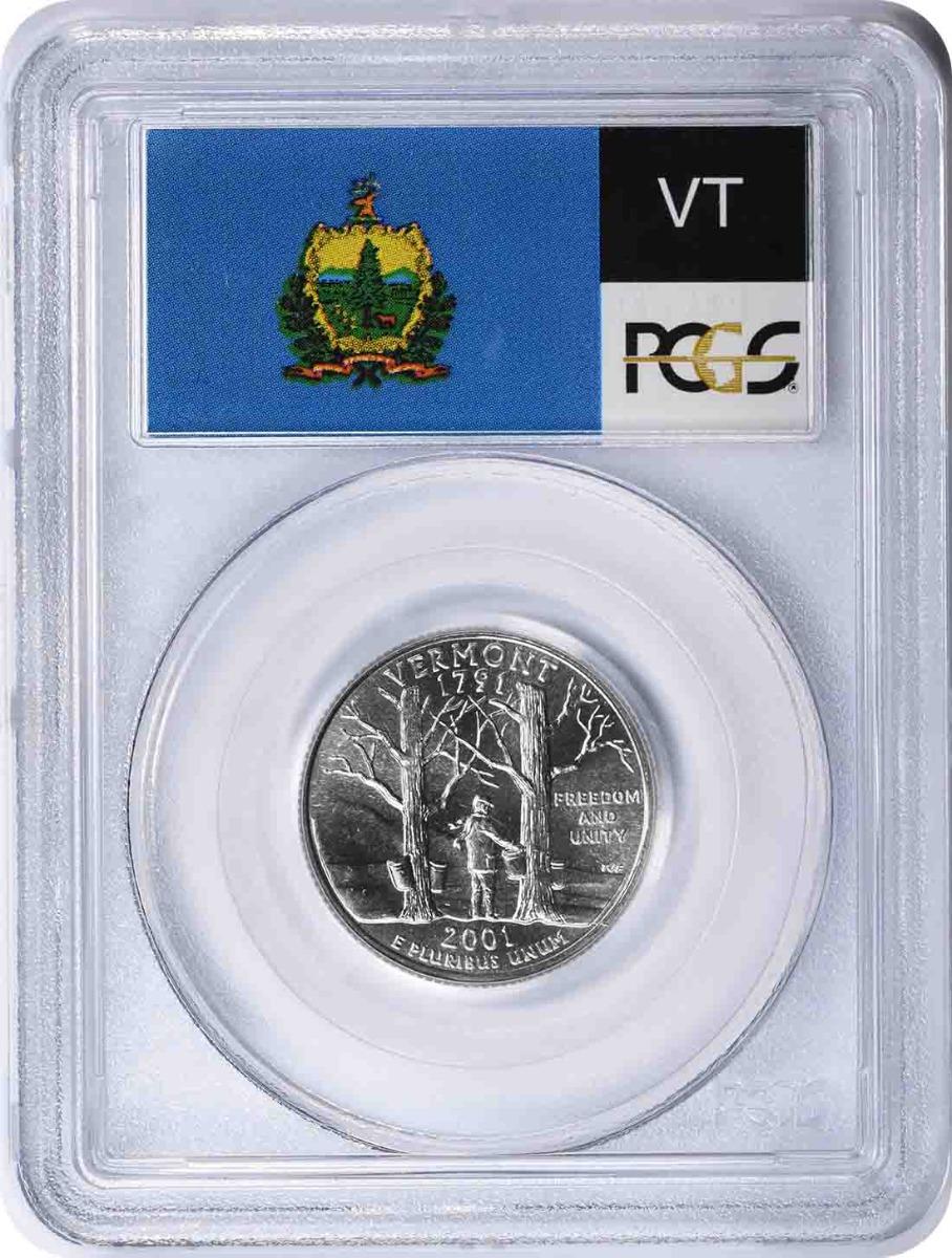2001-P Vermont State Quarter MS67 PCGS