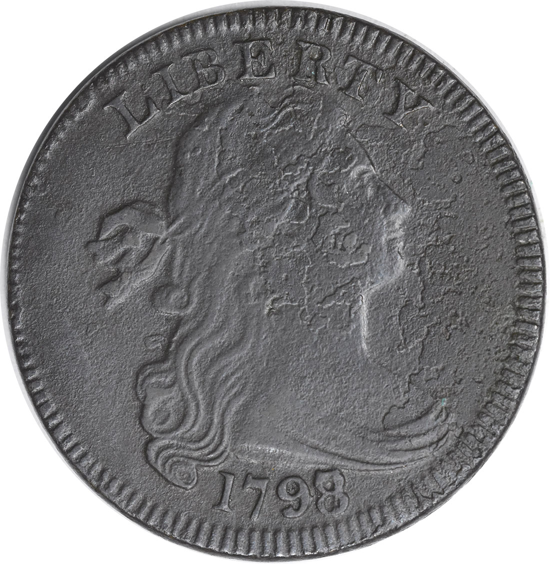 1798/7 Large Cent VF Corrosion Uncertified
