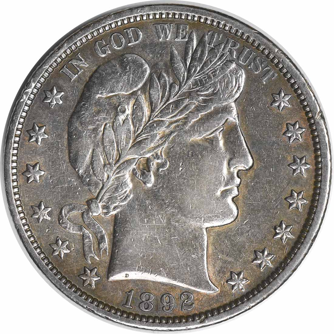 1892 Barber Silver Half Dollar DDR FS-801 EF Uncertified #1256