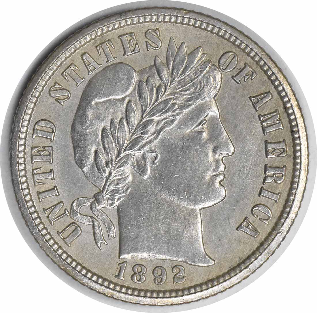 18/1892-O Barber Silver Dime FS-301 MS60 Uncertified #1055