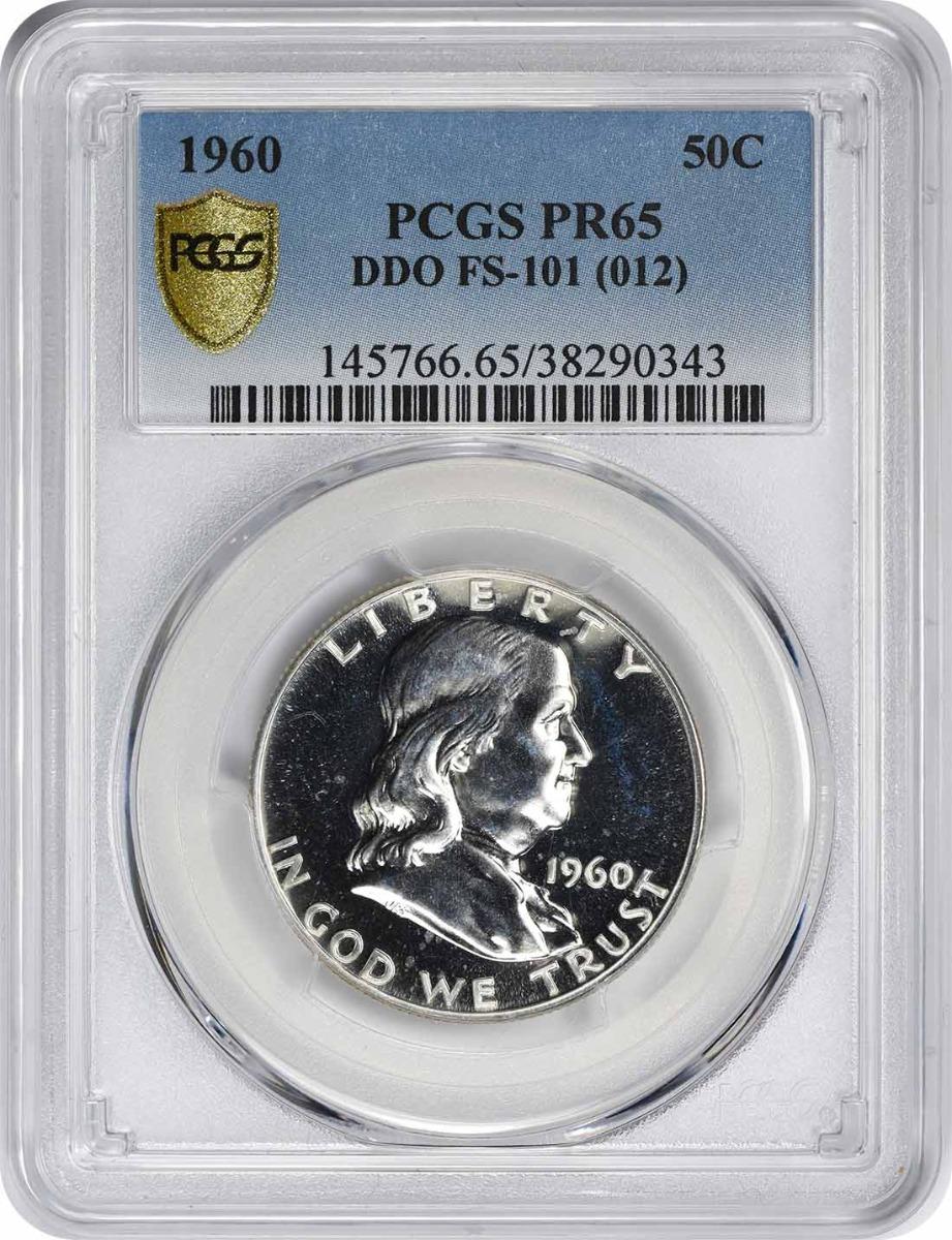 1960 Franklin Half Dollar, DDO FS-101, PR65, PCGS
