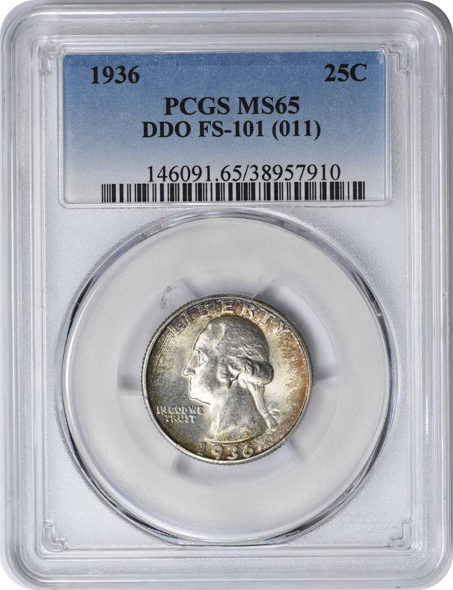 1936 Washington Quarter DDO FS-101 MS65 PCGS