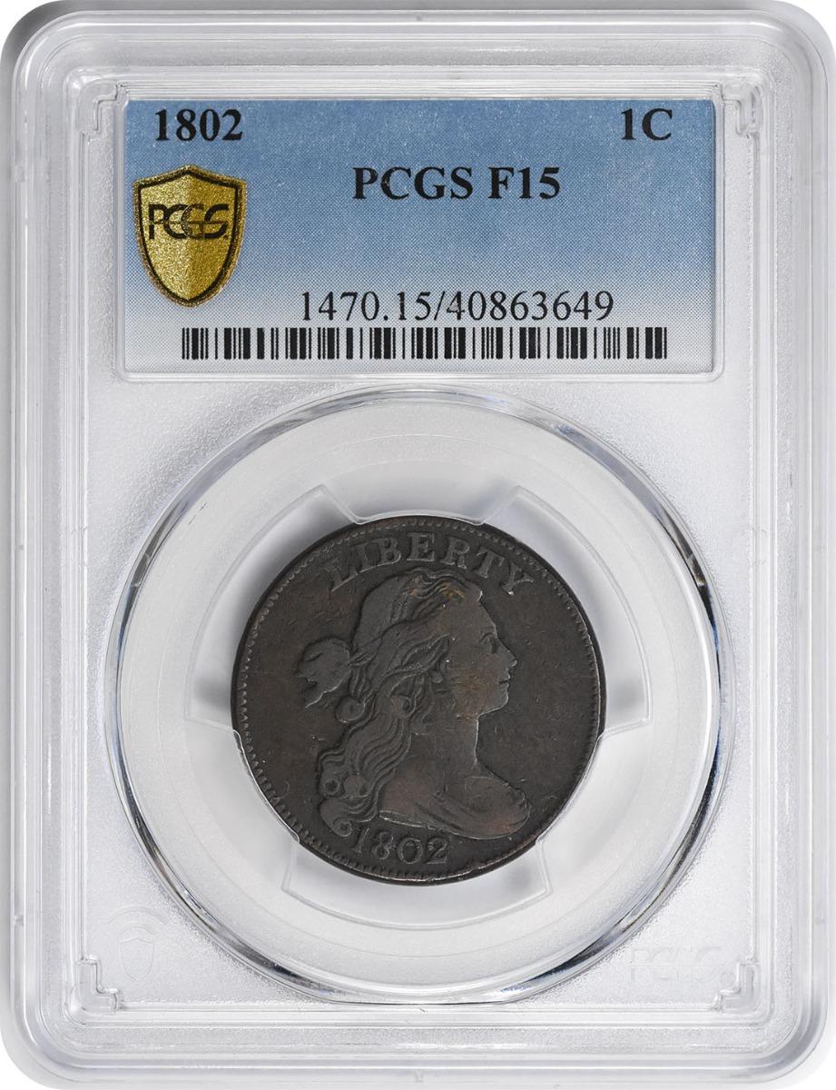 1802 Large Cent F15 PCGS