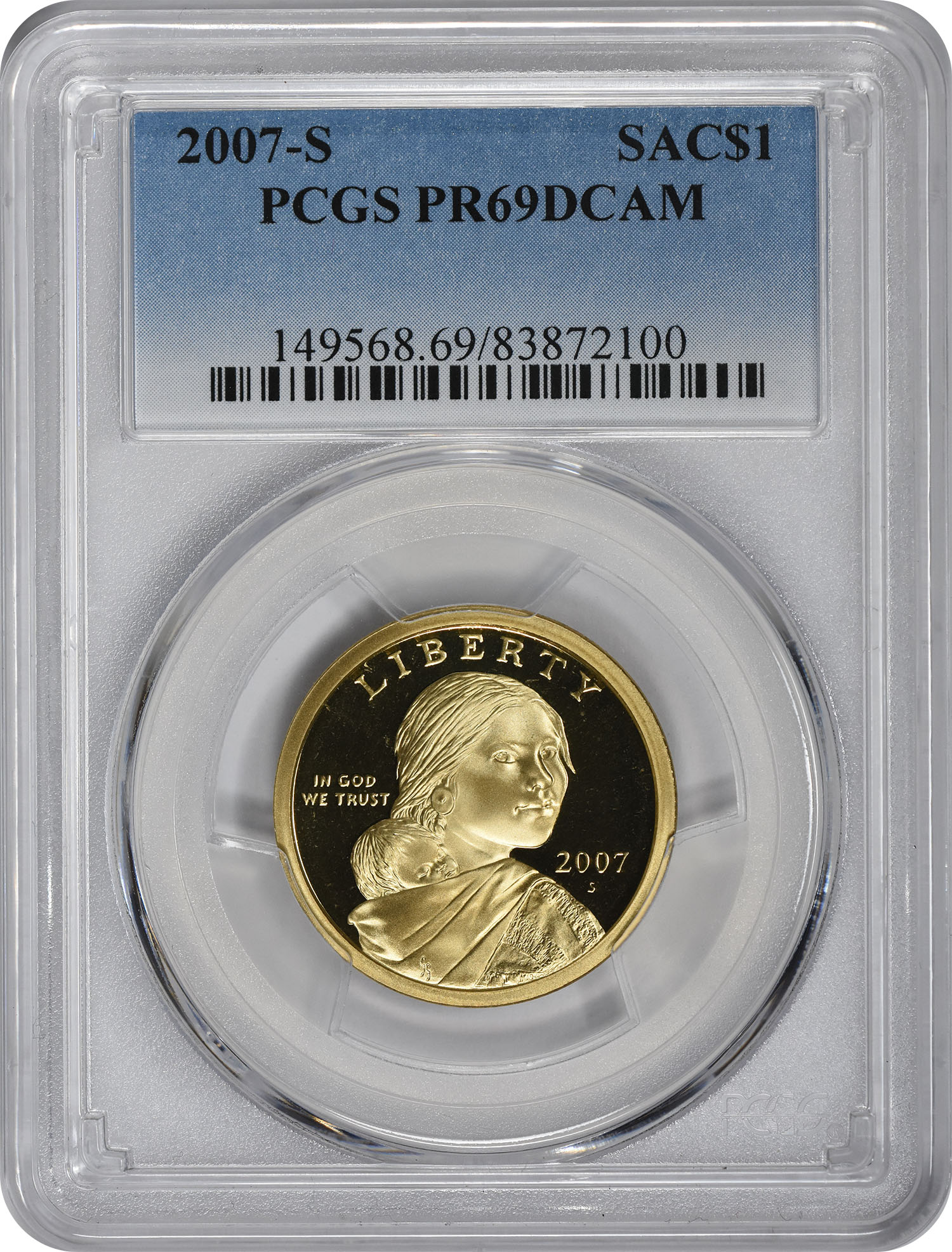 2007-S Sacagawea Dollar PR69DCAM PCGS