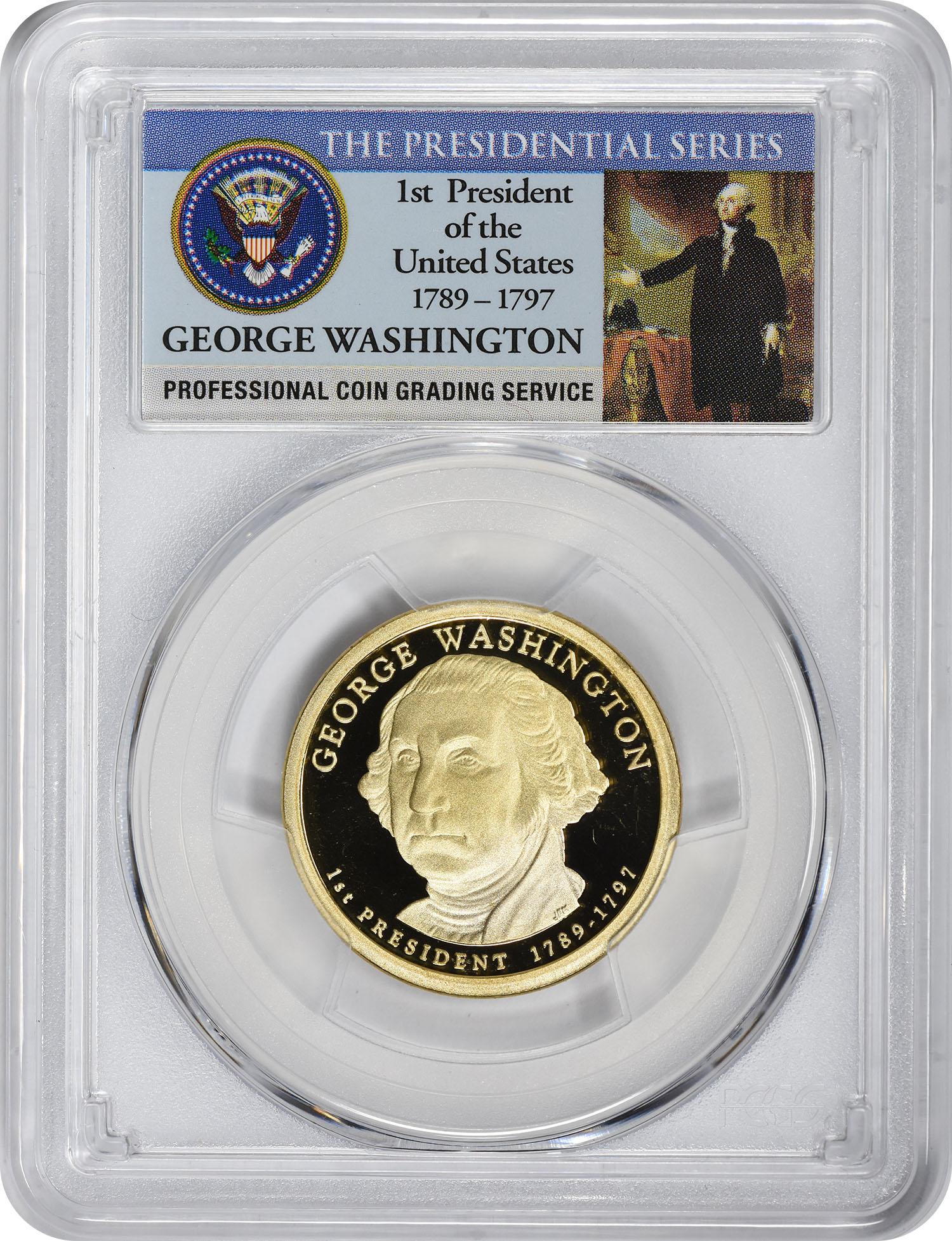 2007-S George Washington Presidential Dollar, PR69DCAM, PCGS
