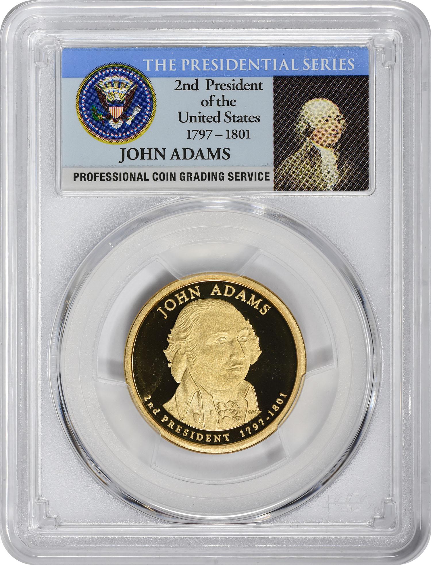 2007-S John Adams Presidential Dollar, PR69DCAM, PCGS