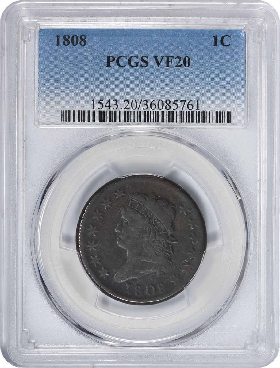 1808 Large Cent VF20 PCGS