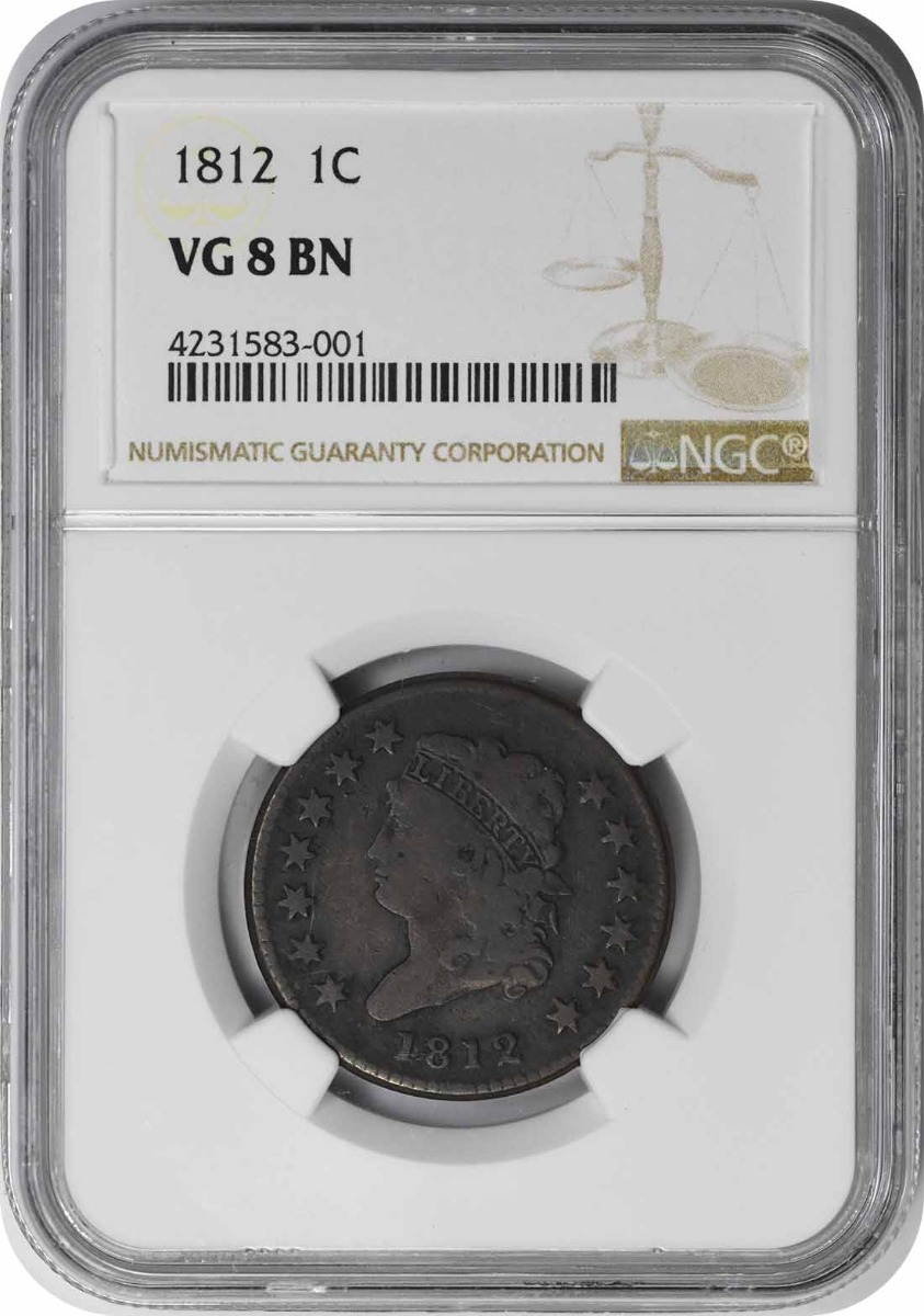 1812 Large Cent VG08BN NGC