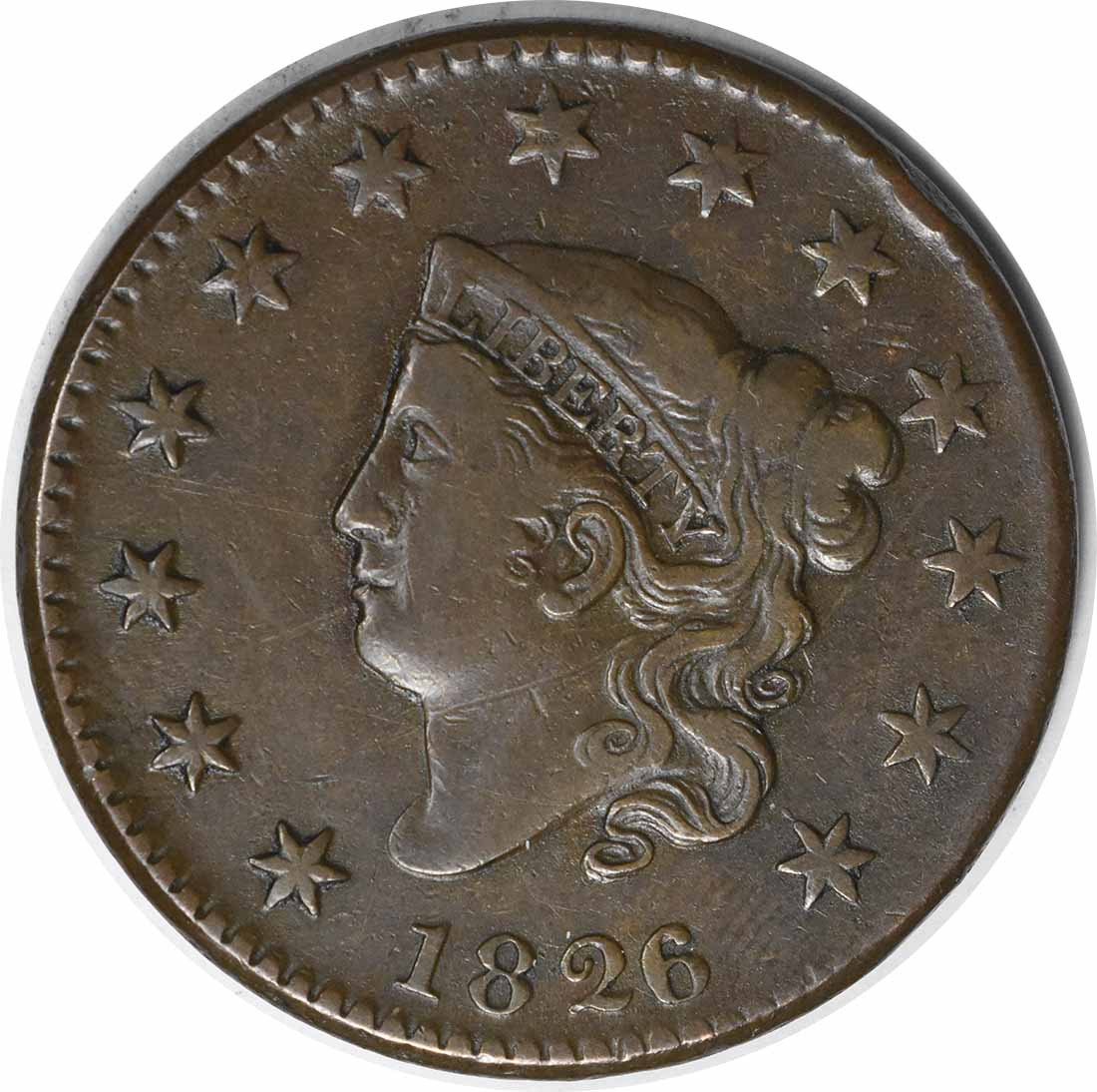 1826/5 Large Cent VF Uncertified
