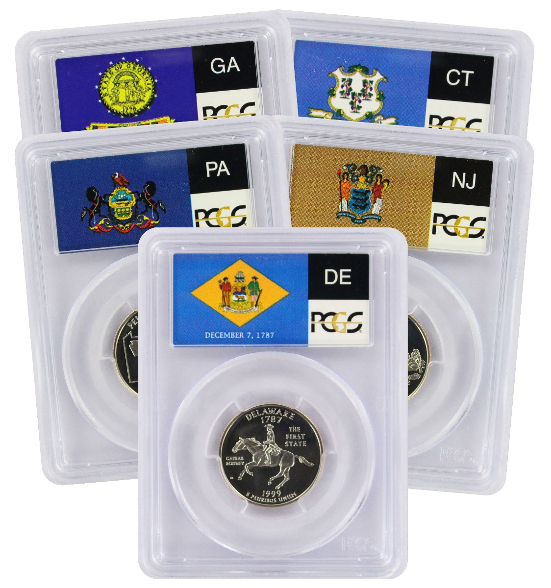 1999-S State Quarter Set PR69DCAM Clad PCGS (Flag Label)