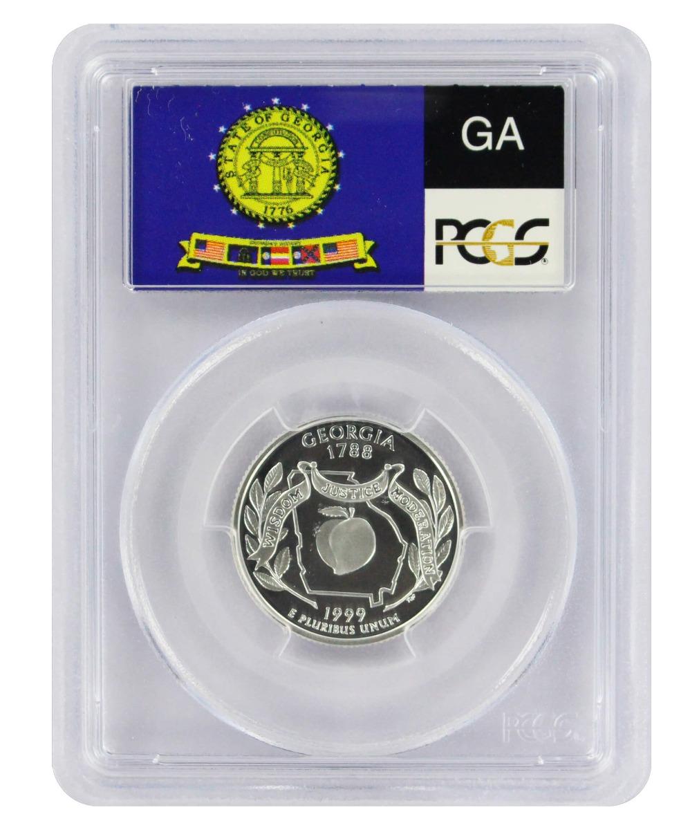 1999-S Georgia State Quarter, PR69DCAM, Silver, PCGS