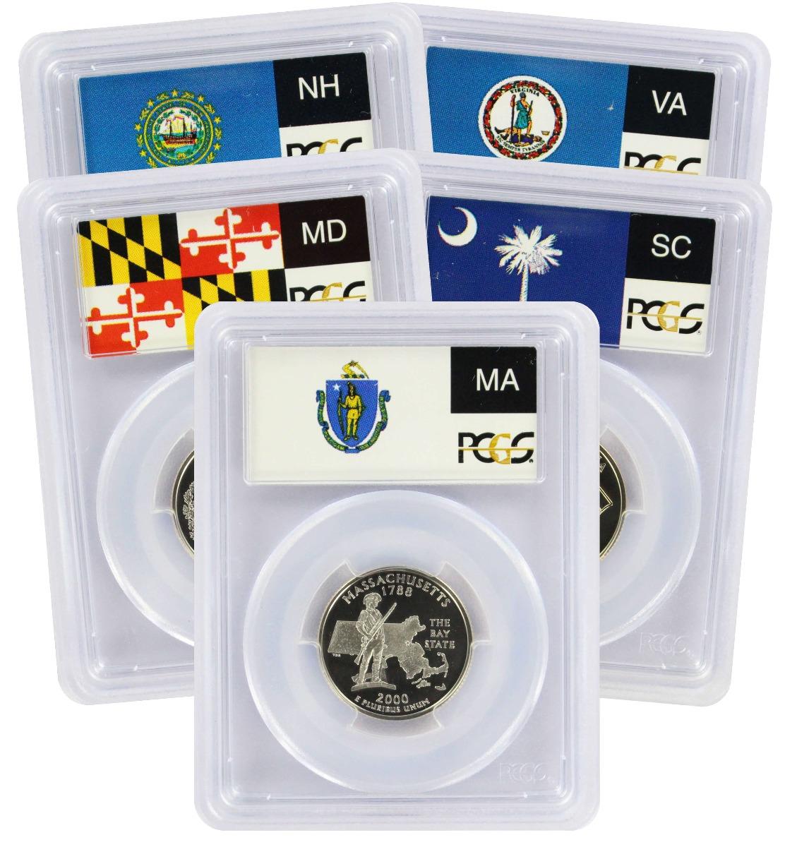 2000-S State Quarter Set, PR69DCAM, Clad, PCGS (Flag Label)
