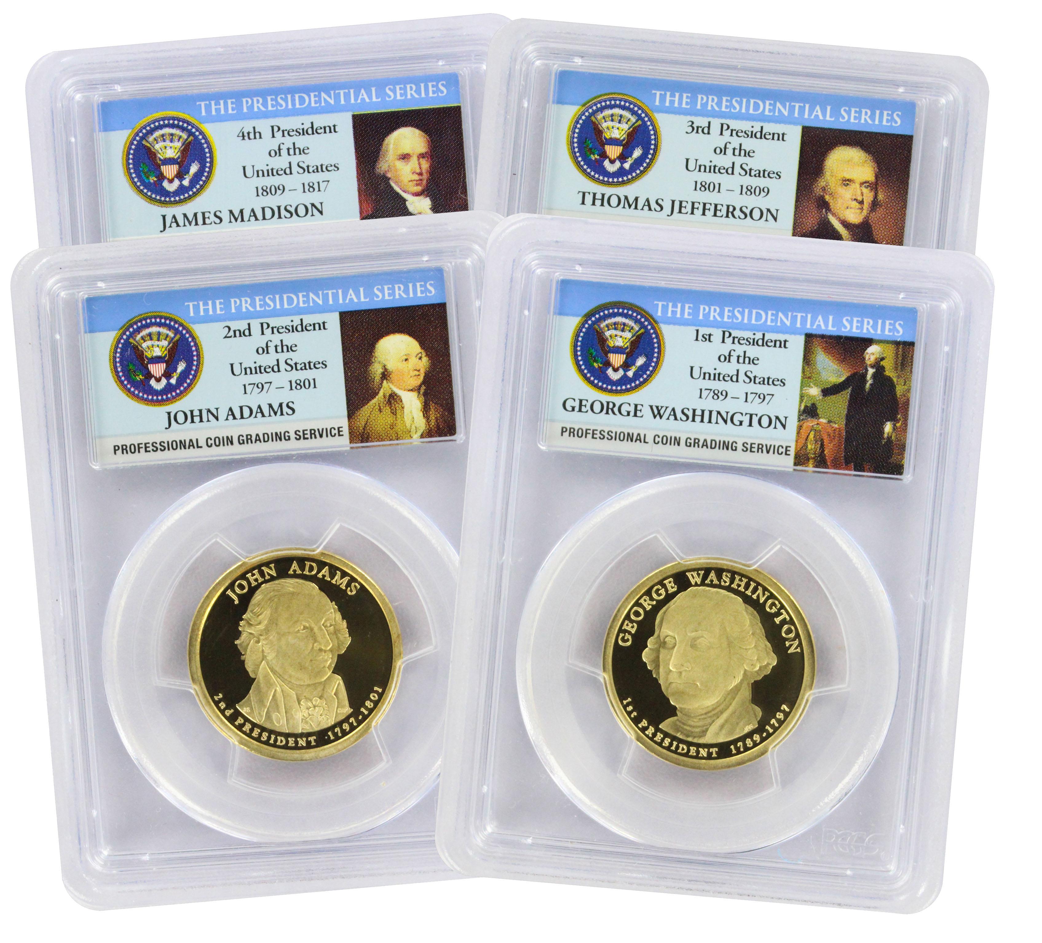 2007-S Presidential Dollar Complete Set PR69DCAM PCGS