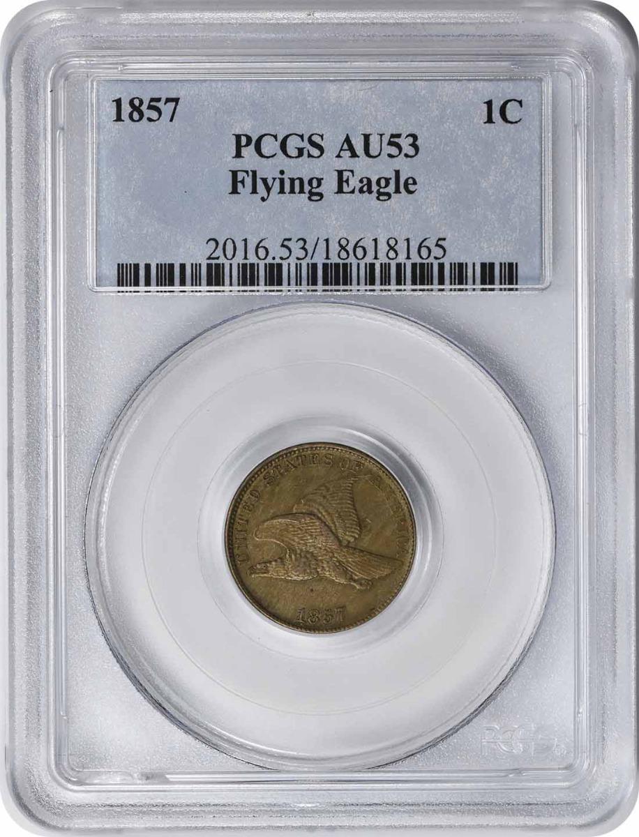 1857 Flying Eagle Cent AU53 PCGS