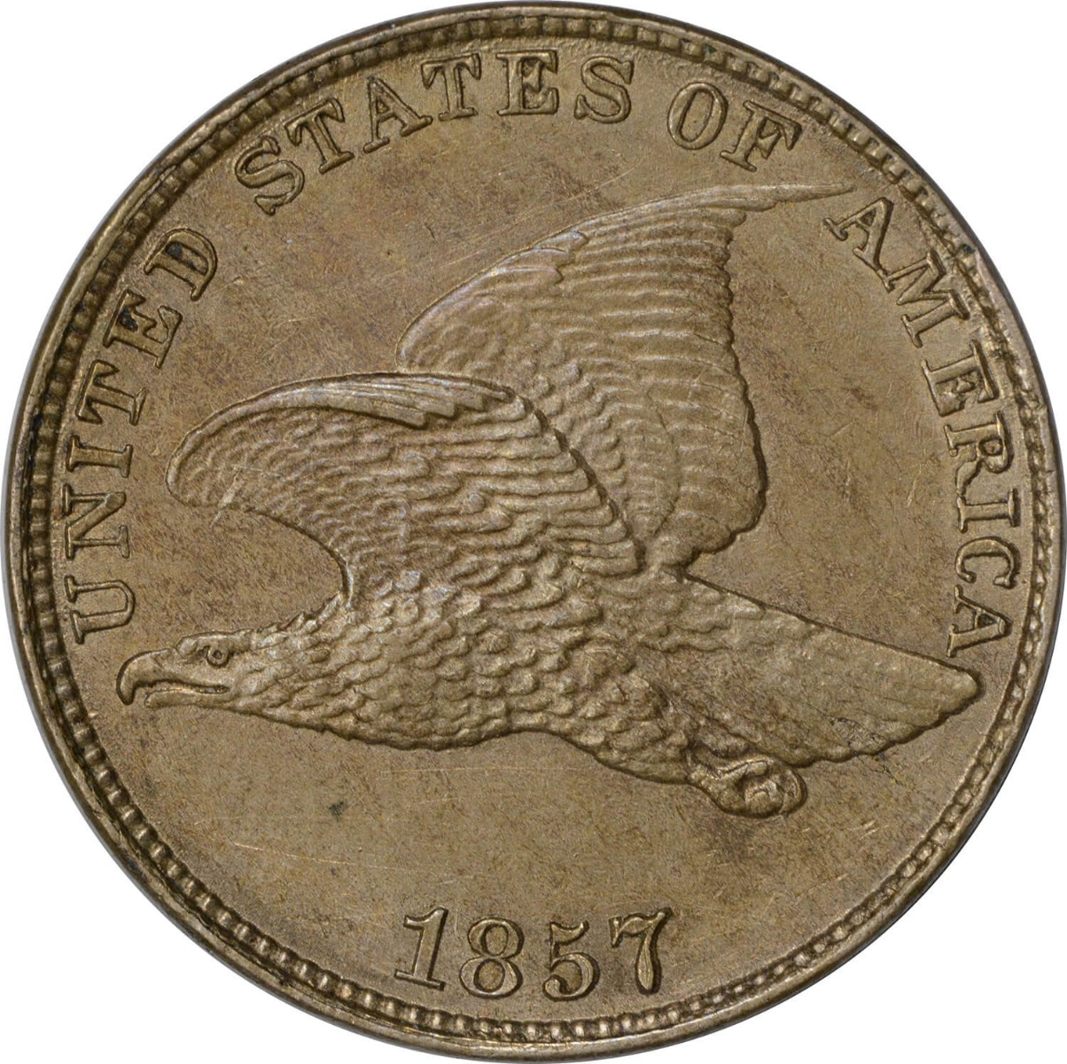 1857 Flying Eagle Cent MS63 Uncertified