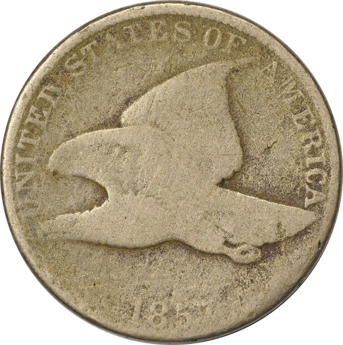1857 Flying Eagle Cent, AG, Uncertified