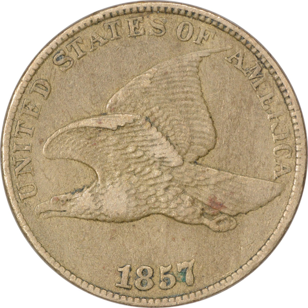 1857 Flying Eagle Cent Choice EF Uncertified
