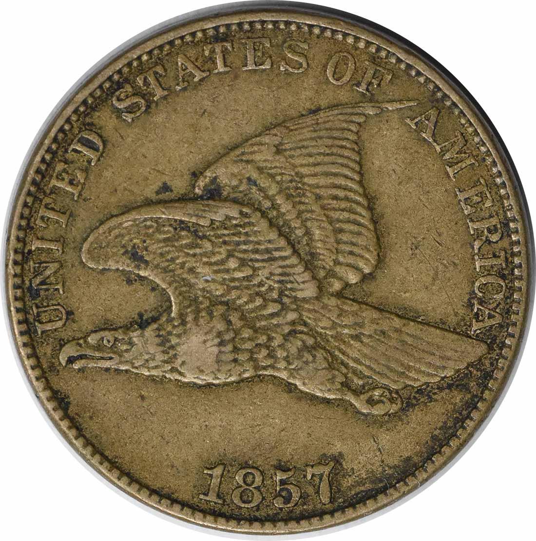 1857 Flying Eagle Cent EF Uncertified #1043