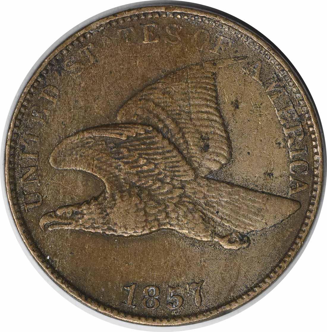 1857 Flying Eagle Cent EF Uncertified #1050