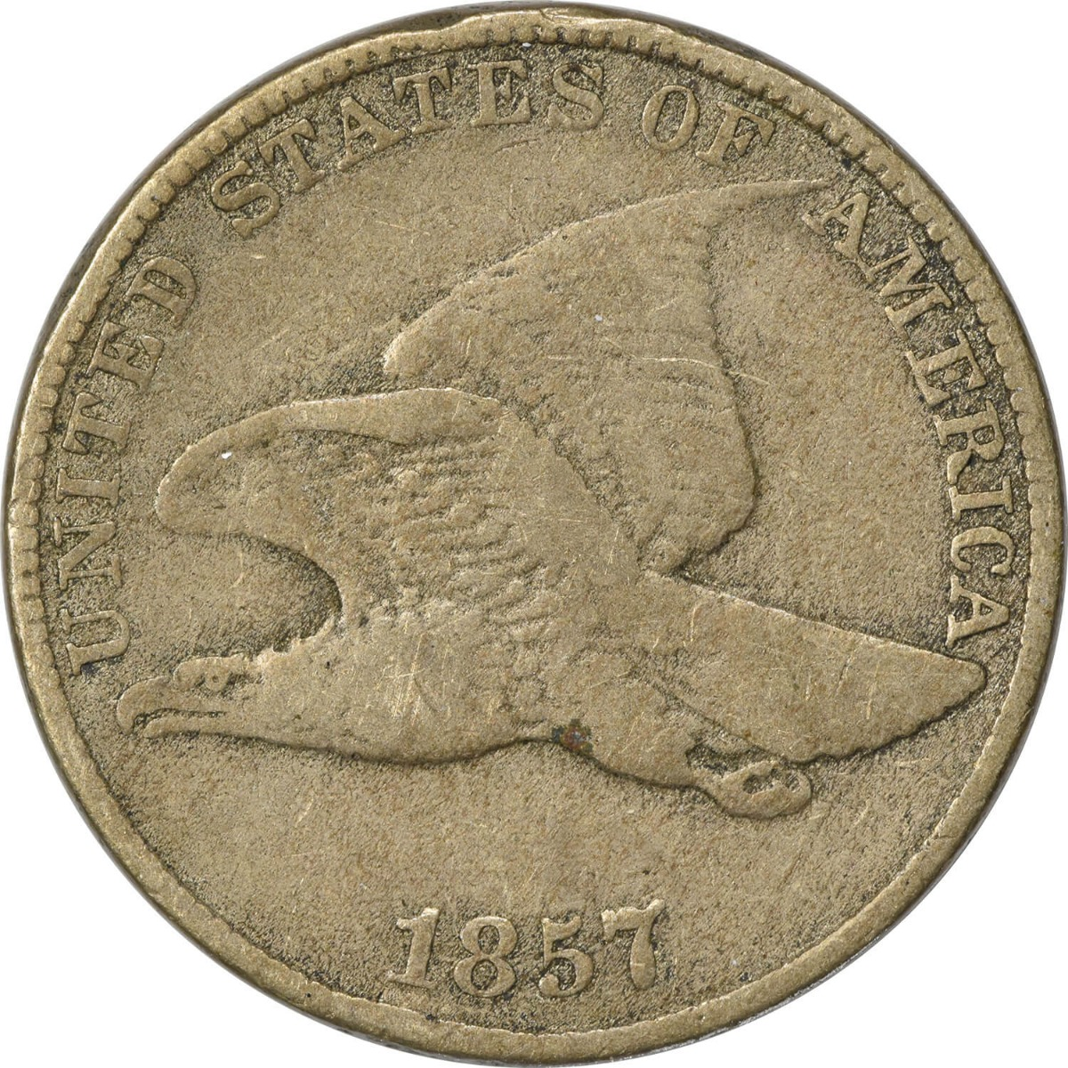 1857 Flying Eagle Cent F Uncertified