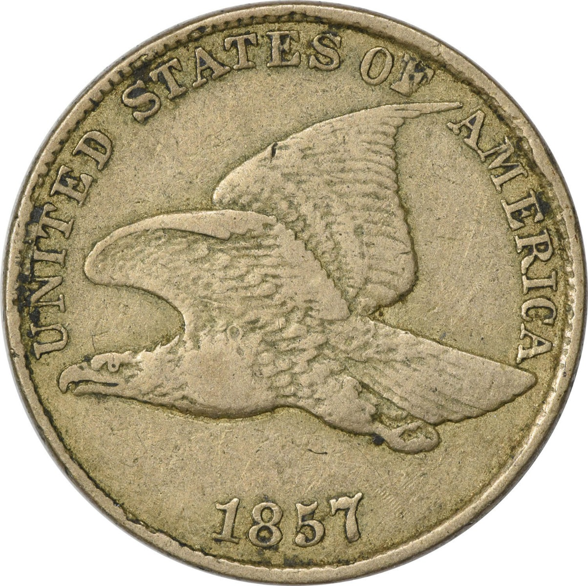 1857 Flying Eagle Cent VF Uncertified