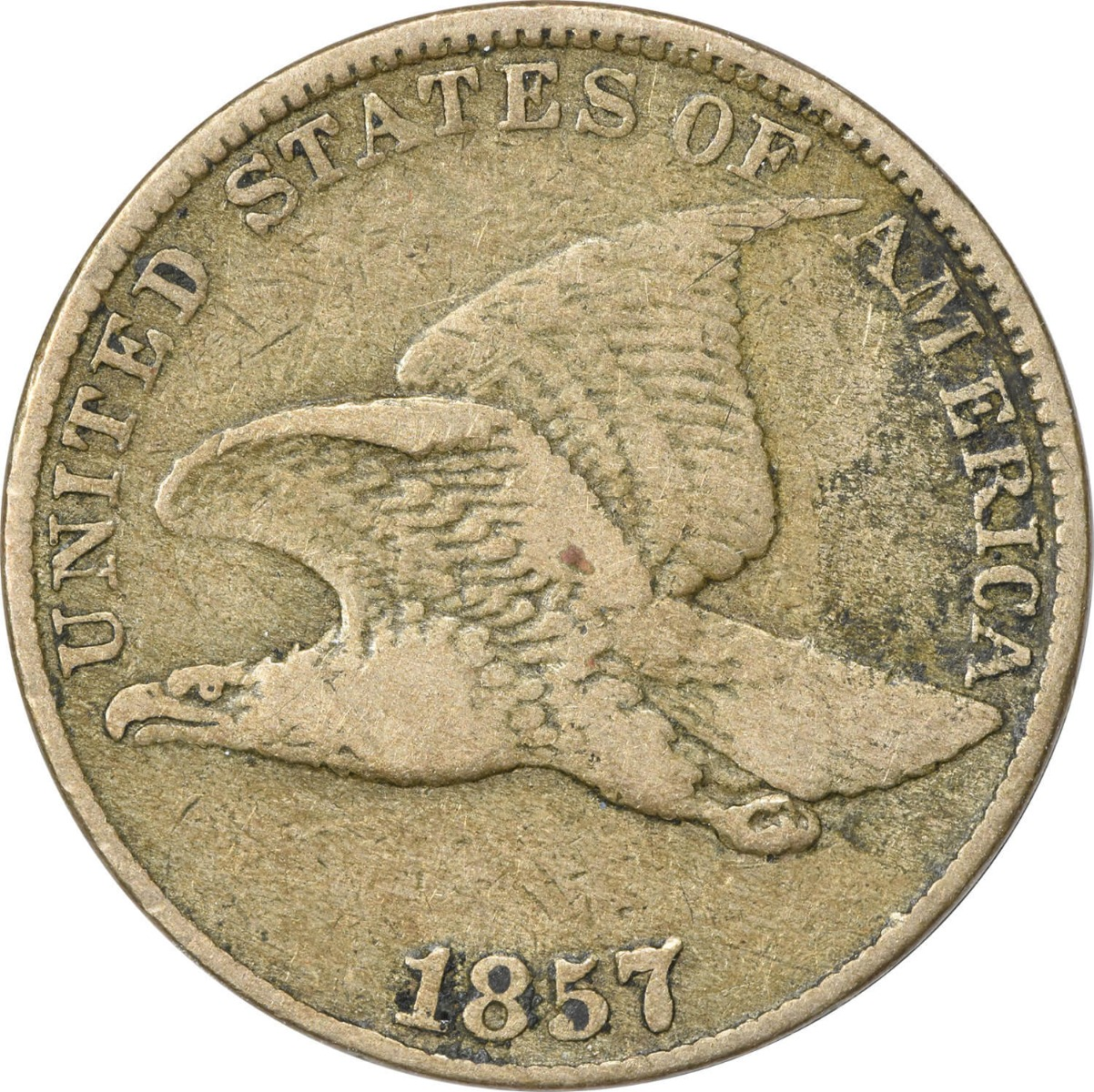 1857 Flying Eagle Cent VG Uncertified