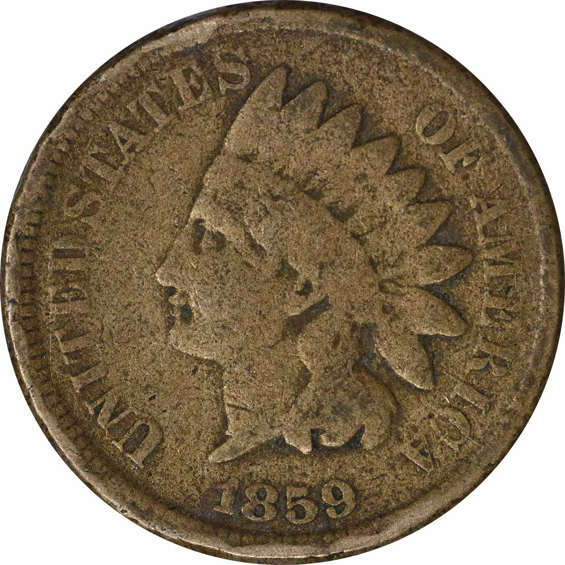 1859 Indian Cent, AG, Uncertified