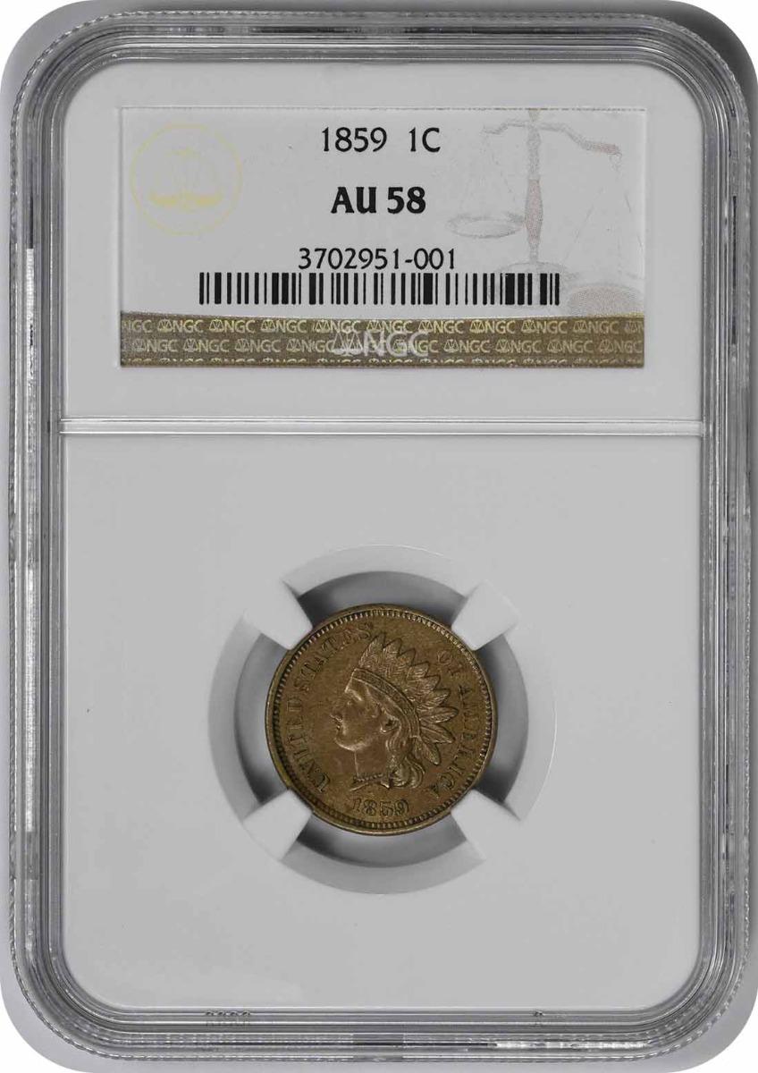 1859 Indian Cent AU58 NGC