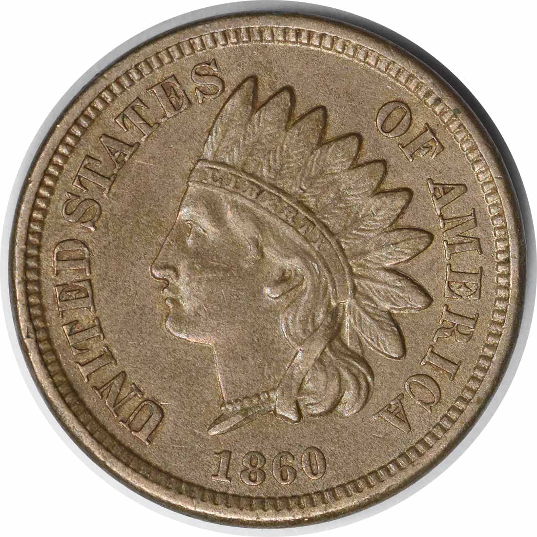 1860 Indian Cent Pointed Bust FS-401 AU Uncertified #117