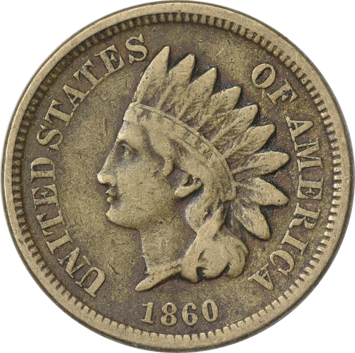 1860 Indian Cent F Uncertified