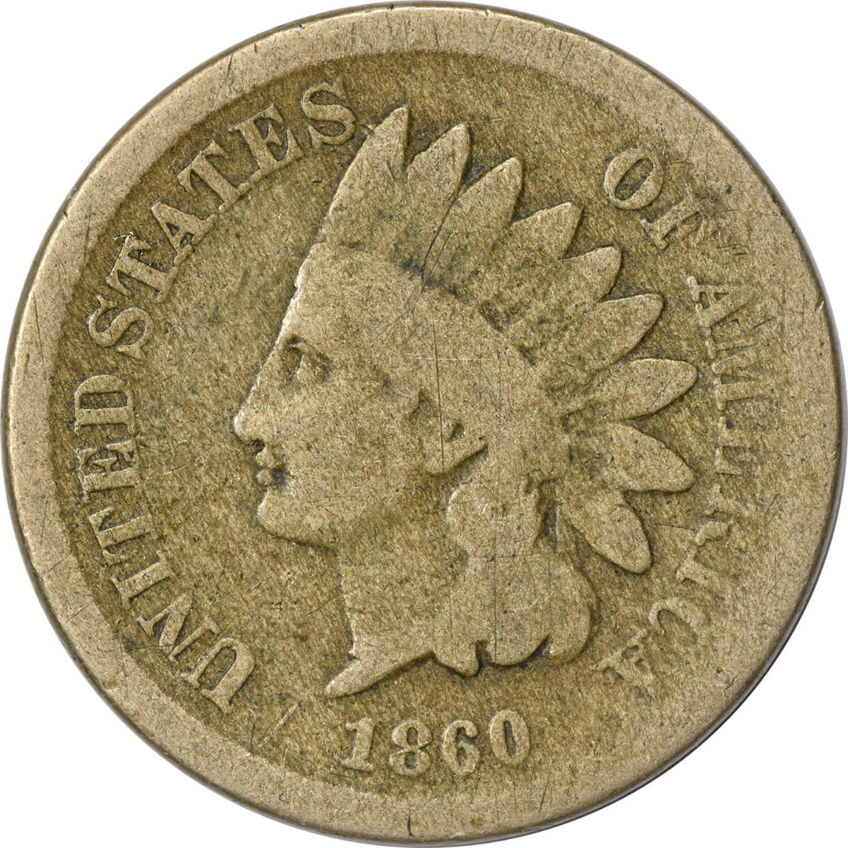 1860 Indian Cent G Uncertified