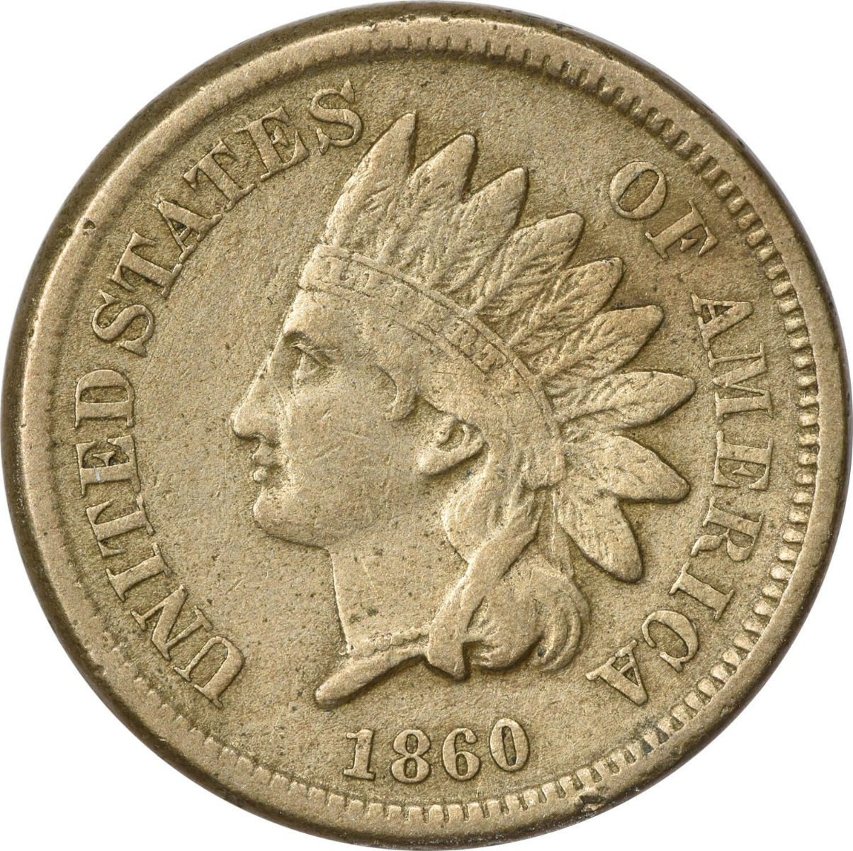 1860 Indian Cent VF Uncertified