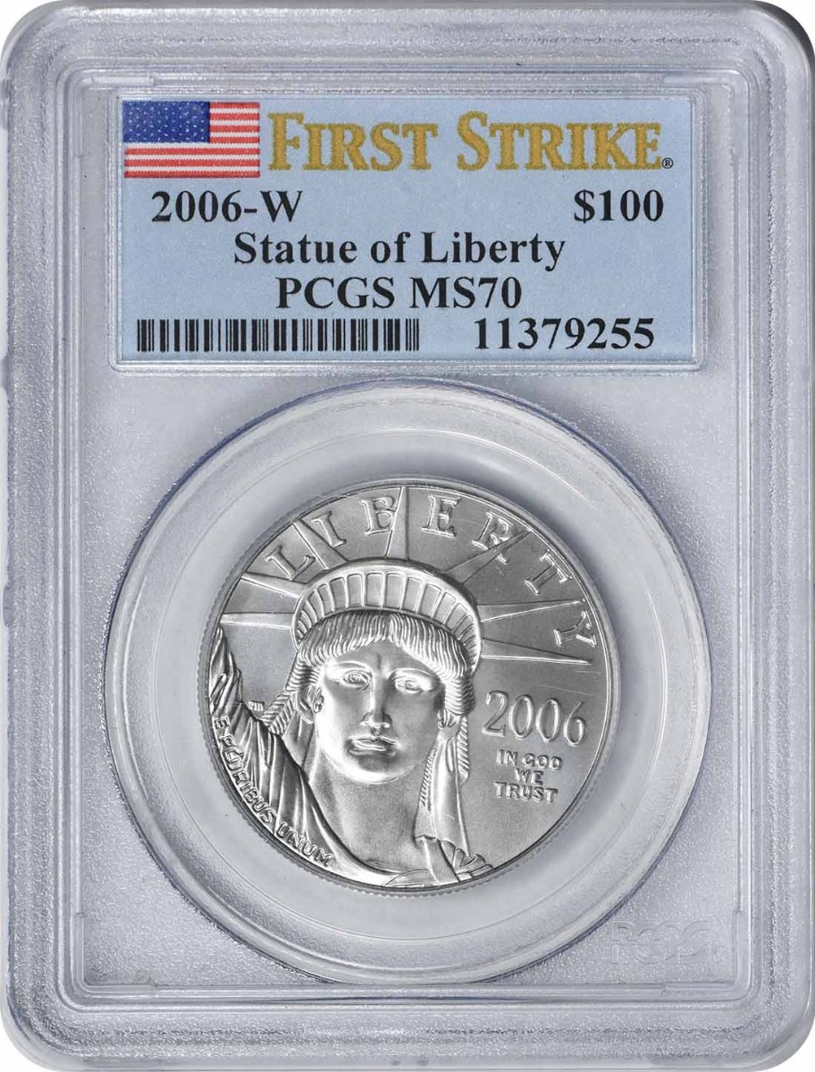 2006-W $100 American Platinum Eagle Burnished MS70 First Strike PCGS